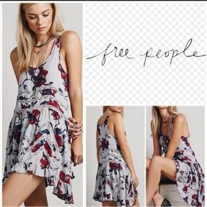 Free People Floral Trapeze Slip Dress